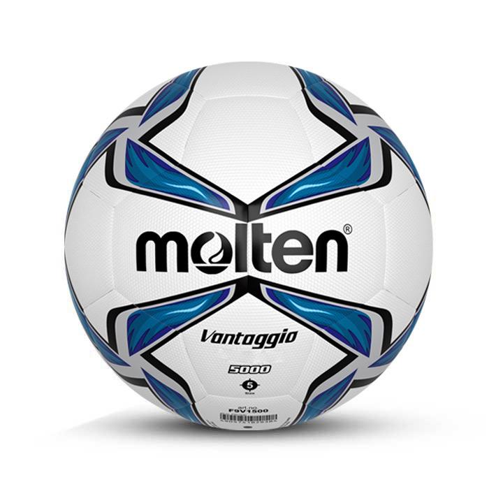 توپ فوتبال چرمی سایز 5 مولتن سفید آبی