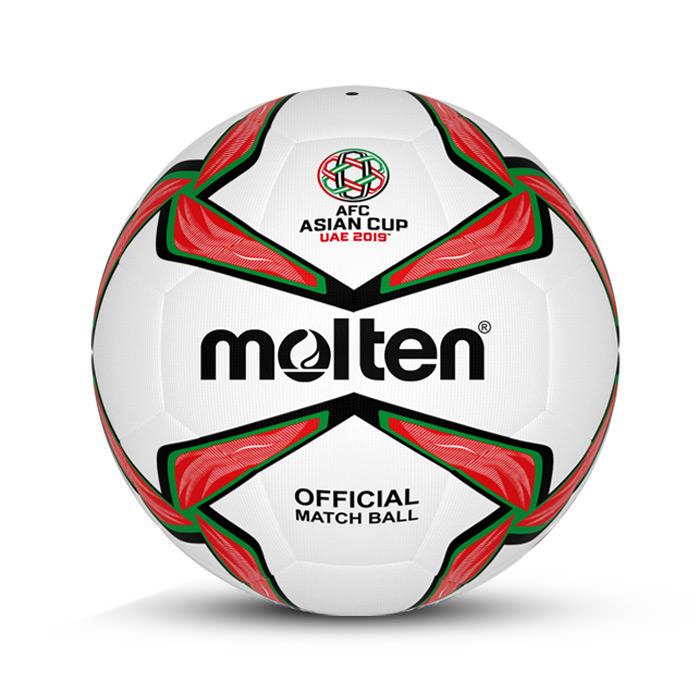 توپ فوتبال چرمی سایز 5 مولتن سفید قرمز