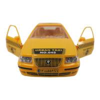 ماشین اسباب بازی در بازشو تاکسی سمند رنگ زرد