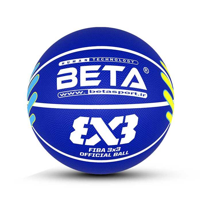 توپ بسکتبال لاستیکی سایز 7 -(آموزشی)B7-3×3-1