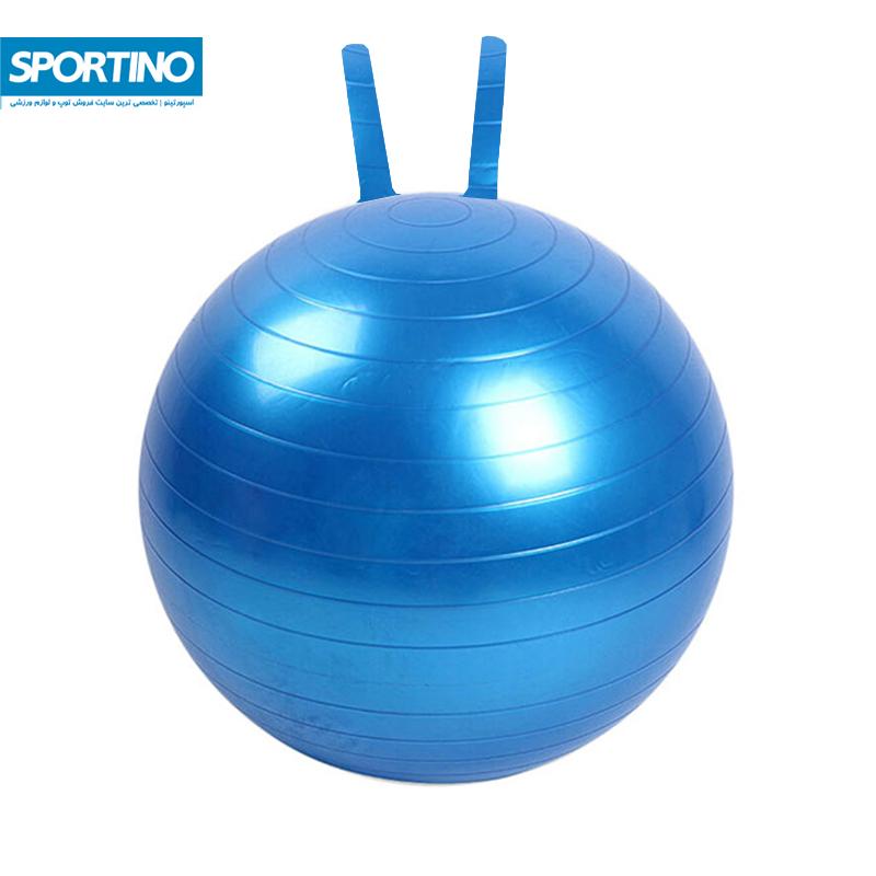 توپ تناسب اندام مدل جیم بال سایز 55 به همراه تلمبه رنگ آبی